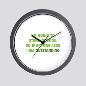 I Am Outstanding Wall Clock