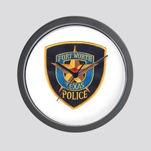 Fort Worth Police Wall Clock