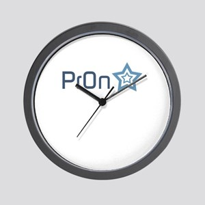Pron Star Wall Clock