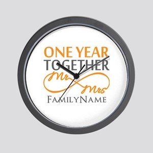Gift For 1st Wedding Anniversary Wall Clock