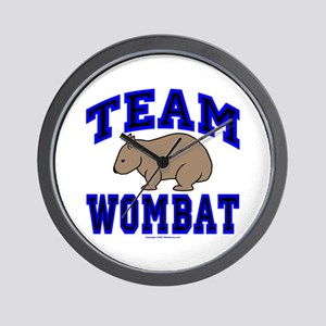 Team Wombat IV Wall Clock