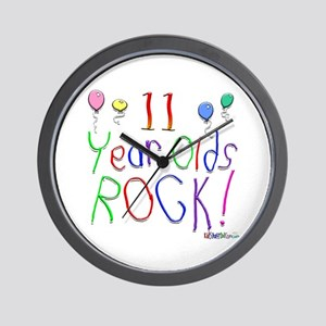 11 Year Olds Rock ! Wall Clock