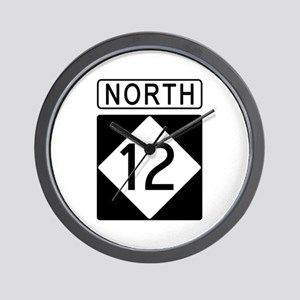 Route 12 North Wall Clock