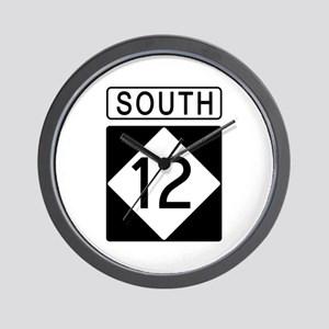 Route 12 South Wall Clock
