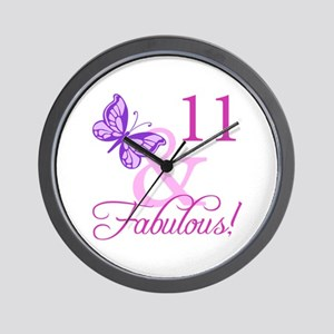Fabulous 11th Birthday Wall Clock