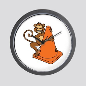 Cone Monkey Wall Clock
