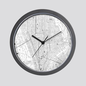 Vintage Map of New York City (1911) Wall Clock