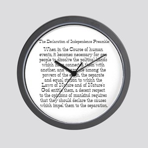 Preamble to Declaration  Wall Clock