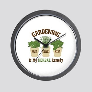 GARDENING IS MY HERBAL Remedy Wall Clock