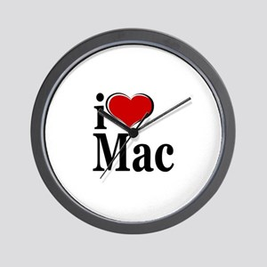 I Love Mac! Wall Clock