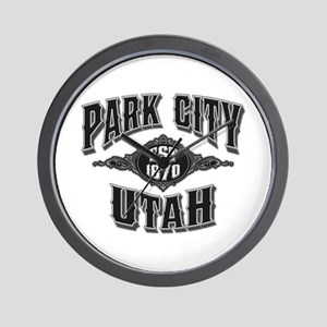 Park City Black Silver Wall Clock