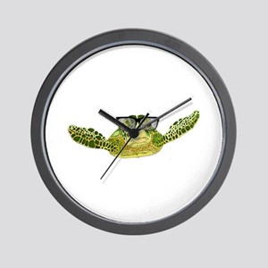 Turtle nerd power Wall Clock