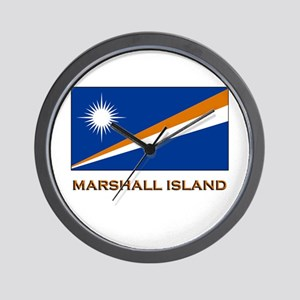 The Marshall Islands Flag Gear Wall Clock