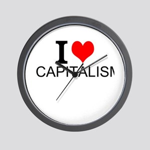 I Love Capitalism Wall Clock