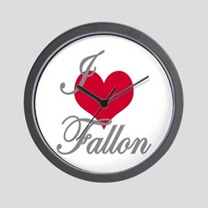 I love (heart) Fallon Wall Clock