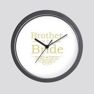 Brother of the Bride gold Wall Clock
