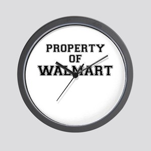 Property of WALMART Wall Clock