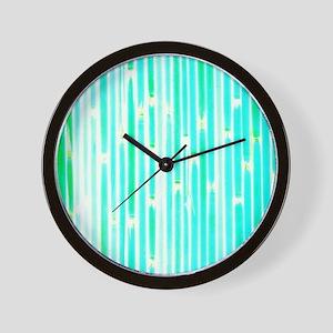 Bamboo Pattern Wall Clocks Cafepress