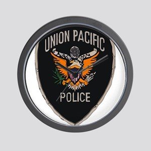 Union Pacific Police patch Wall Clock