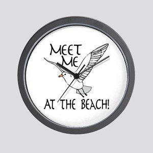 Meet Me At The Beach! Wall Clock