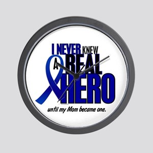 Never Knew A Hero 2 Blue (Mom) Wall Clock