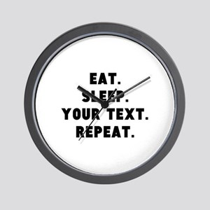 Eat Sleep Repeat Personalized Wall Clock