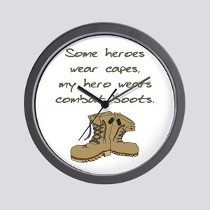 Some Heroes Wear Capes Wall Clock