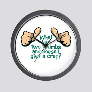 Two Thumbs Wall Clock