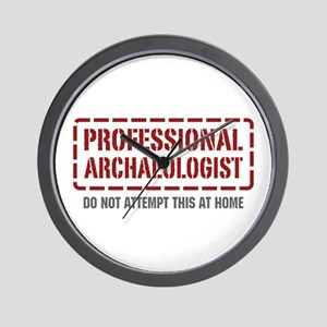 Professional Archaeologist Wall Clock