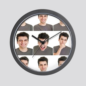 Man face expressions Wall Clock