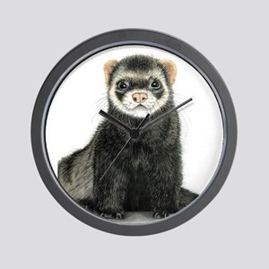 High detail ferret design Wall Clock