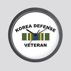Korea Defense Veteran Wall Clock