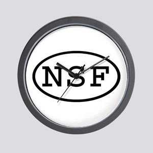 NSF Oval Wall Clock