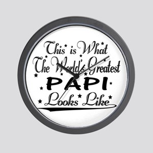 World's Greatest Papi... Wall Clock