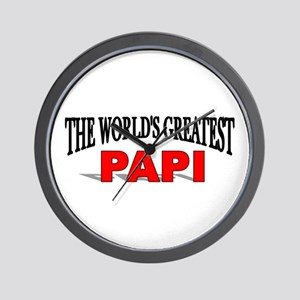 """The World's Greatest Papi"" Wall Clock"