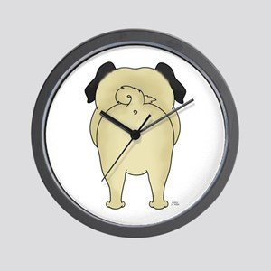 Big Butt Pug Wall Clock