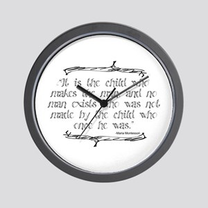 Child Makes the Man Wall Clock