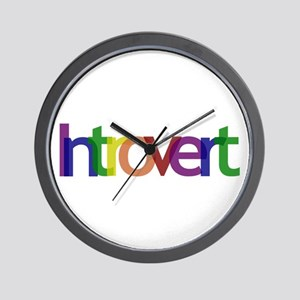 Introvert Colors Wall Clock