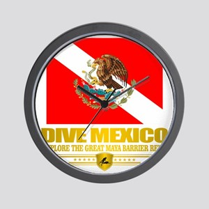 Dive Mexico 2 Wall Clock