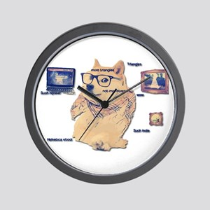 Hipster Doge Hipster things Wall Clock