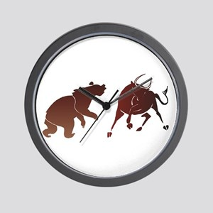 Bull and Bear Wall Clock