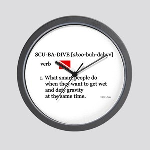 Scuba-Dive Definition Wall Clock