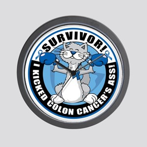 Colon Cancer Survivor: Boxing Cat Wall Clock