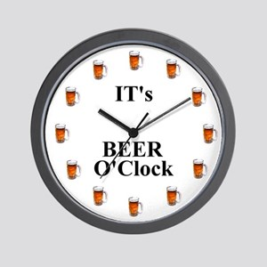 Its Beer O'Clock Wall Clock
