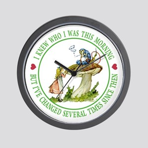 I Knew Who I Was This Morning Wall Clock