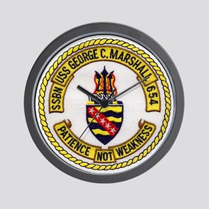 uss george c. marshall patch transparen Wall Clock