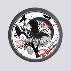 New Supernatural Full Moon Crows Truth  Wall Clock