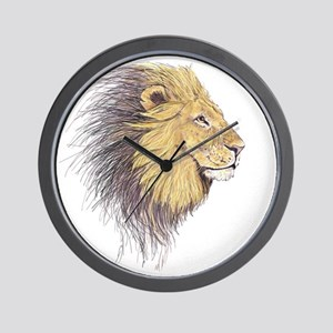 Lions Head Wall Clock