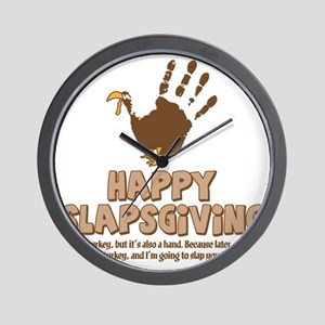Happy Slapsgiving! Wall Clock