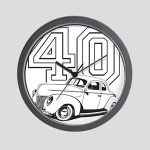 40 ford white Wall Clock